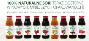 Naturalne soki Look Food w nowych opakowaniach 300ml