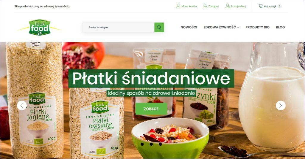Sklep internetowy ze zdrową żywnością LOOK FOOD